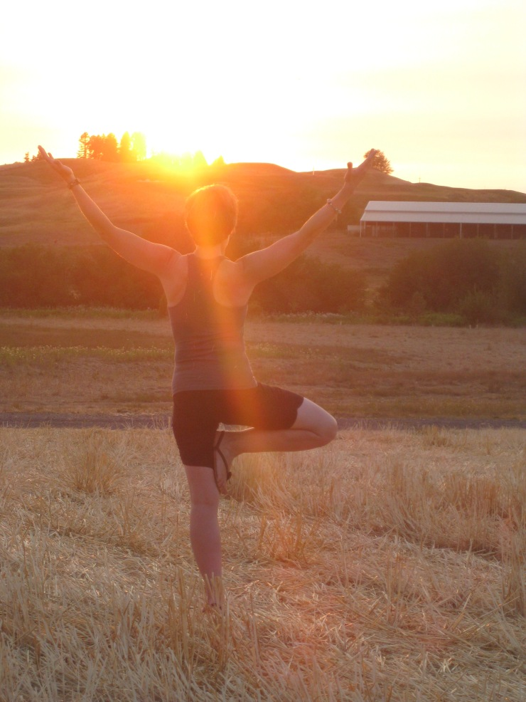 Last day of August, sunset yoga